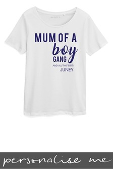 Personalised Mum Of A Boy Gang Printed T-Shirt