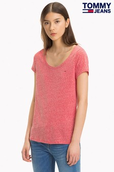 Tommy Jeans Red T-Shirt