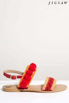 Jigsaw Moroccan Minna Embellished Pom Sandal