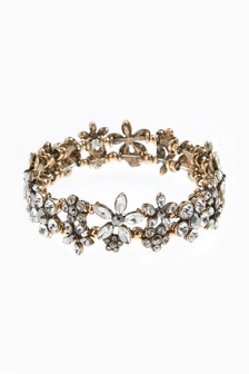 Jewelled Flower Bracelet