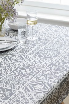 Tile Print Wipe Clean PVC Tablecloth