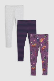 Dinosaur Leggings Three Pack (3-16yrs)