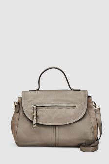 Leather Top Handle Tote