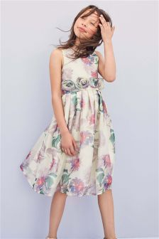 Printed Organza Prom Dress (3-16yrs)