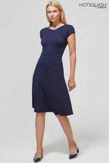 HotSquash Kleid mit Bogensaum, marineblau