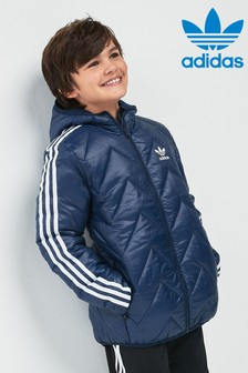 adidas Originals Navy Trefoil 3 Stripe Jacket
