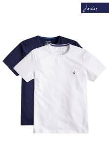 Joules Navy And White Laundered T-Shirts Two Pack