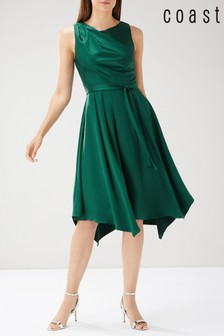 Coast Green Savannah Knot Midi Dress