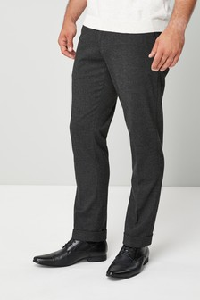 Brushed Puppytooth Slim Fit Trousers