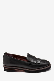 Leather EVA Chunky Sole Loafers