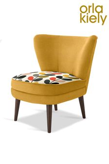 Orla Kiely Nina Chair with Walnut Legs
