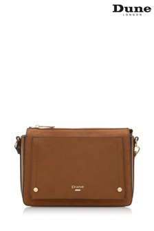 Dune Accessories Tan Small Pocket Front Cross Body Bag