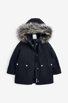 Duffle Coat With Wool (3-16yrs)