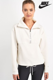 Nike Pro Mock Neck Pullover Training Hoody