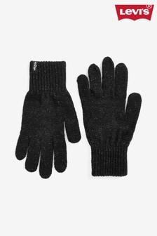 Czarne rękawiczki z brokatem Levi's®