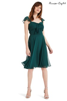 Phase Eight Green Kendall Georgette Dress
