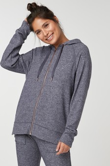 Supersoft Zip Hoody Top