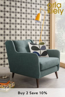 Orla Kiely Fern Chair with Walnut Feet