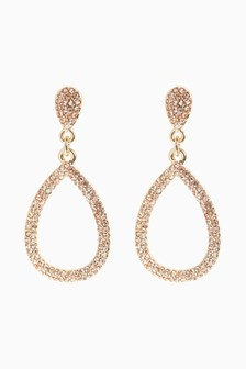 Jewelled Teardrop Drop Earrings