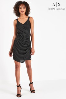 Armani Exchange Wrap Metallic Dress