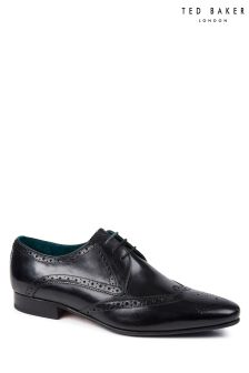 Ted Baker Black Shosei Wing Cap Brogue