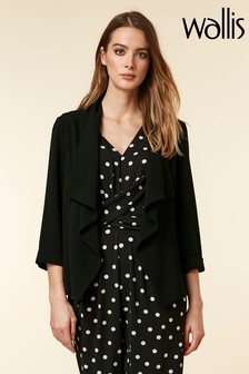 Wallis Black Envelope Waterfall Jacket