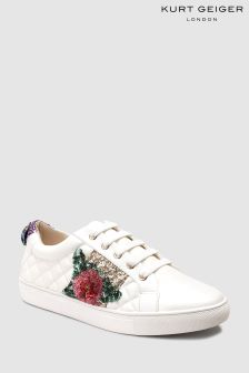 Kurt Geiger London White Leather Lily Rainbow Sneaker