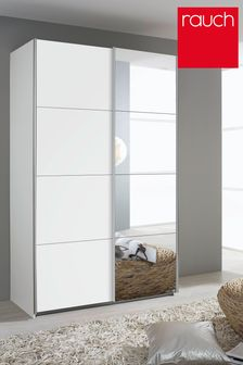 Cameron White 1.36m Sliding Wardrobe by Rauch