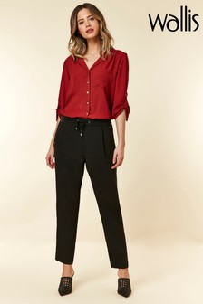 Wallis Black Petite Pull-On Trouser