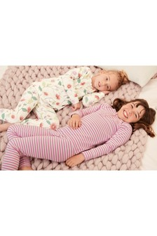 Floral/Stripe Snuggle Fit Pyjamas Two Pack (3-16yrs)