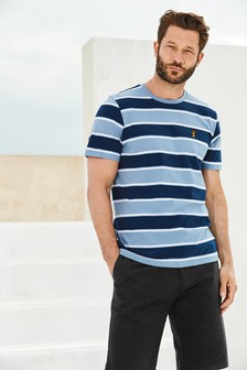 Striped Badge T-Shirt