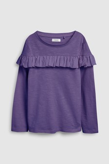 Ruffle Long Sleeve T-Shirt (3-16yrs)