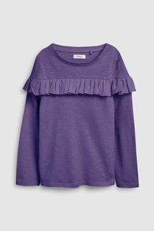 Ruffle Long Sleeve T-Shirt (3-16yrs)