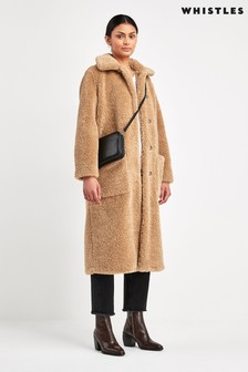 Whistles Toffee Teddy Coat