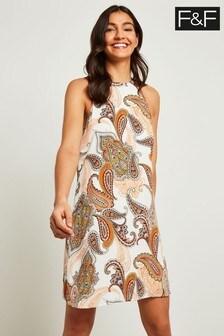 F&F Ivory Paisley Shift Dress