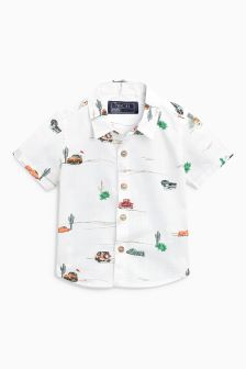 Car Print Short Sleeve Shirt (3mths-6yrs)
