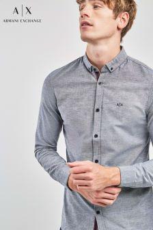 Armani Exchange Grey Chambray Shirt