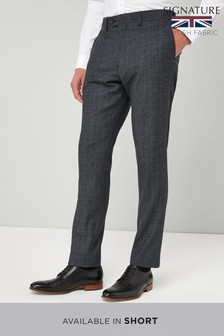 Slim Fit Empire Mills Signature British Wool Suit: Trouser