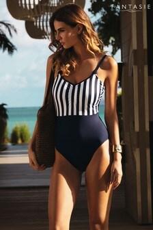 Fantasie Stripe Cote D'Azur Scoop Neck Swimsuit