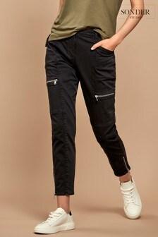 Sonder Studio Grey Zip Detail Biker Jeans