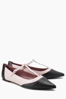 Pointed T-Bar Shoes