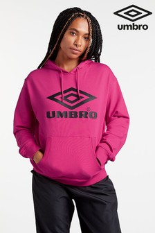 Umbro Pink Logo Overhead Hoody