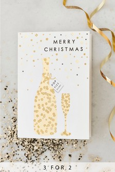 10 Pack Sequin Effect Prosecco Cards