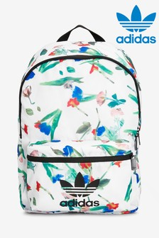 adidas Originals White Floral Backpack