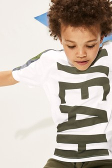 Yeah Camo Side Stripe T-Shirt (3-16yrs)