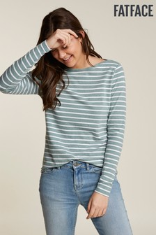 FatFace Green Organic Cotton Blend Breton Tee