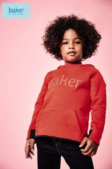 baker by Ted Baker Overhead Sweat With Baker Logo In Red