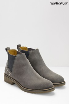 White Stuff Grey Leah Chelsea Boot