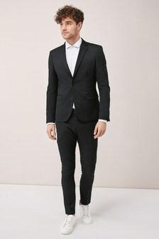 Twill-Anzug mit Stretch: Jacke