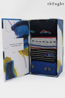 Thought Blue Maxie Racing 4 Pack Socks Box